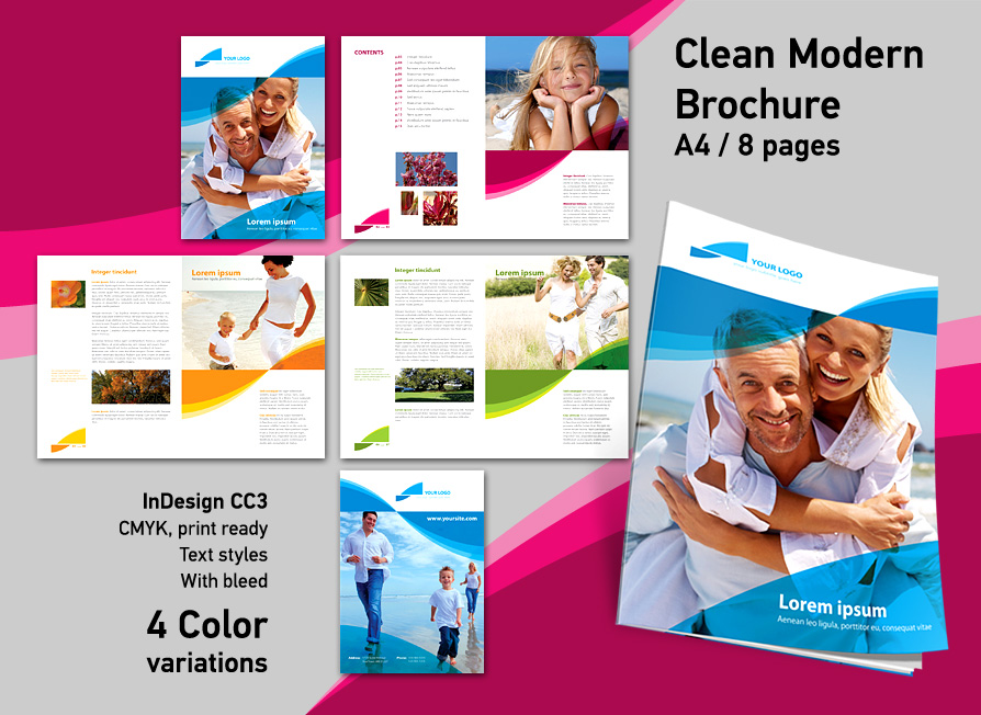 Brochure InDesign Template By RedEffect On DeviantArt - Brochure indesign templates