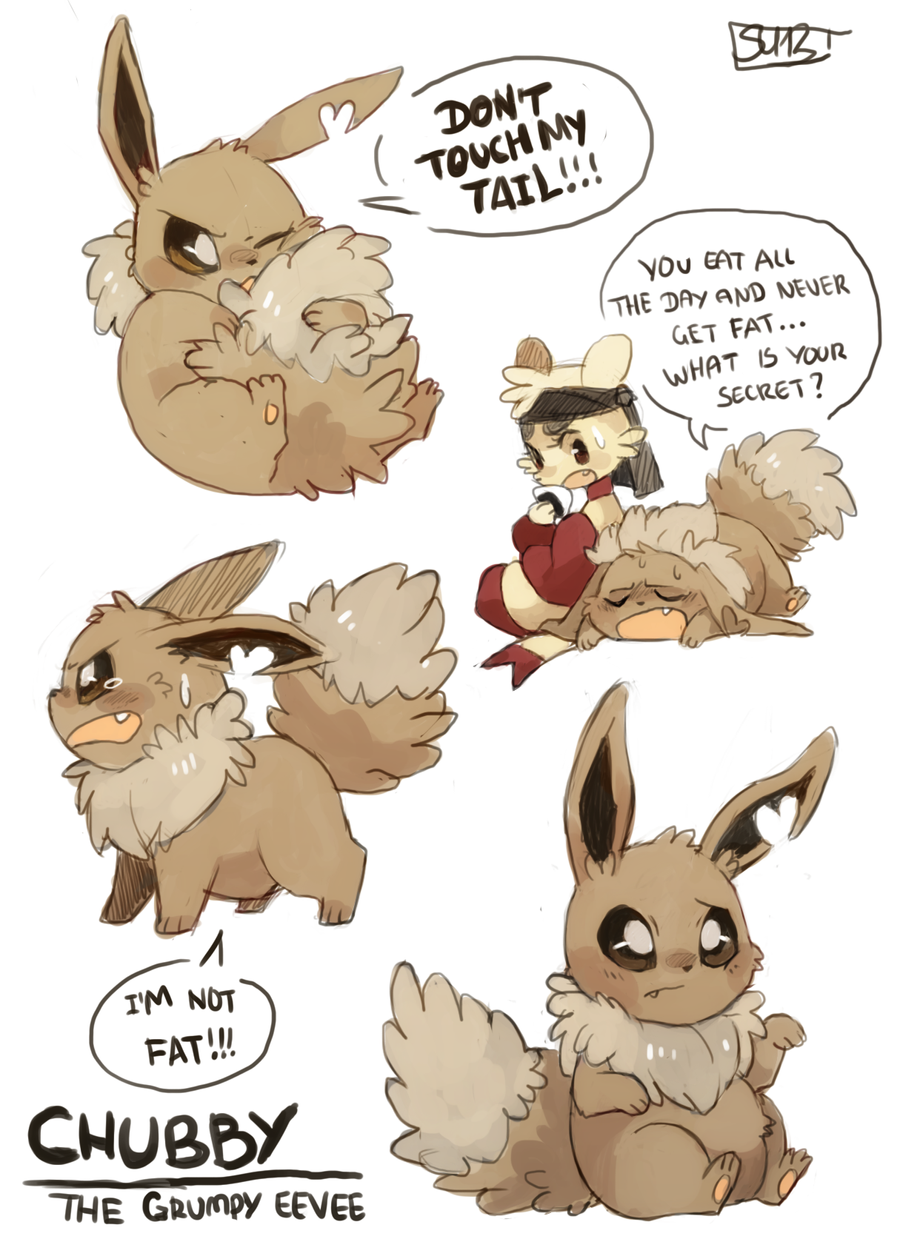 chubby the grumpy eevee by fu fighters on deviantart