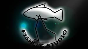 Fishleg Studio - Round Logo (Backlit glass)