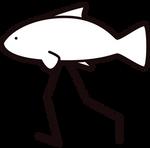 Fishleg Studio LLC walking fish logo (updated)