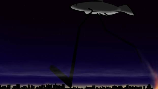 Fishleg Studio wallpaper - City Stomping Night