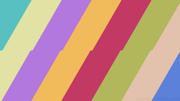 Jaunty Pastel Lines - Wallpaper