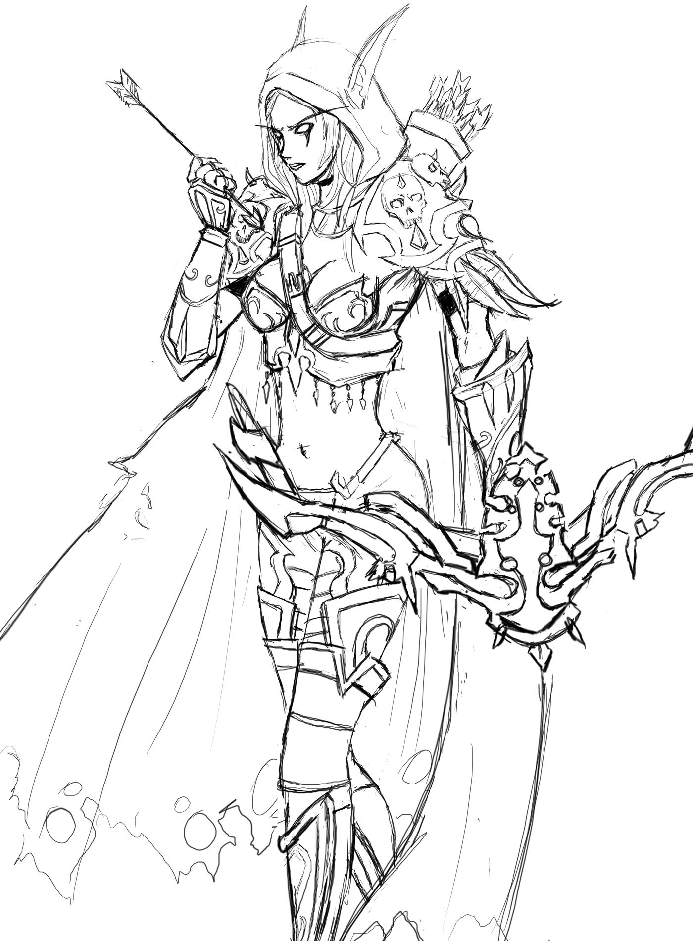 Warcraft - Sylvanas by vaghot on DeviantArt
