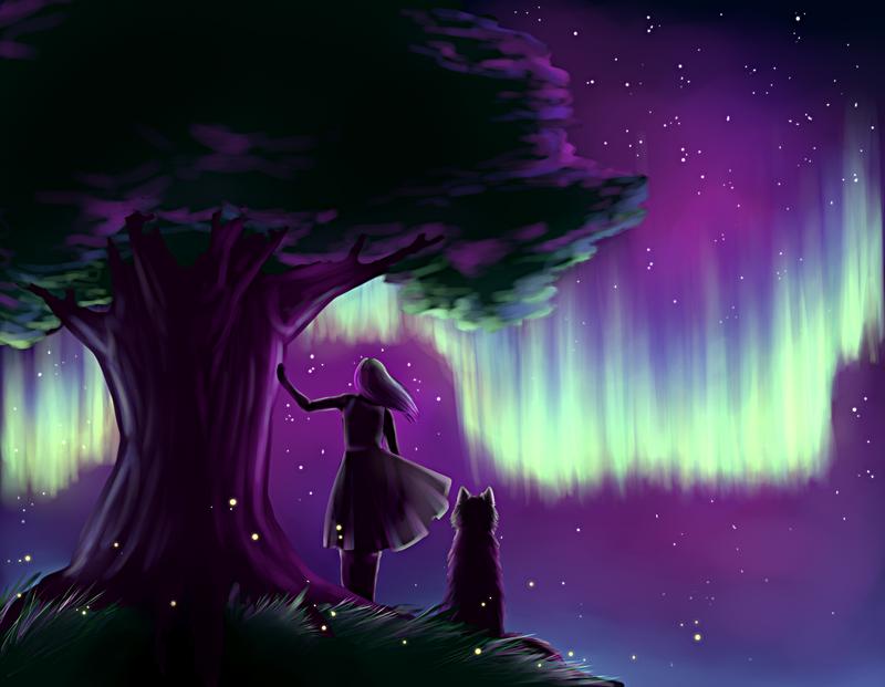 northern lights by sagibagi