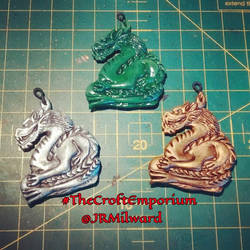 Secret Dragon-inspired pendants by Greenkey2