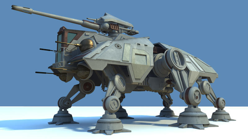 AT-TE: textured and rendered by lordphobos