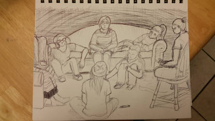 quick group sketch by Rachaelanian