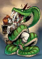 Tyra vs snake