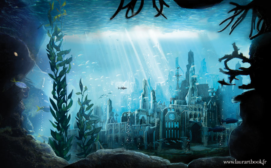 Underwater Mermaid Castle YS the lost underwater city by
