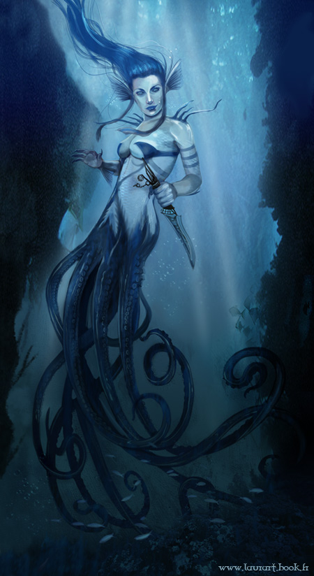 Octopus mermaid 2 by laura-csajagi