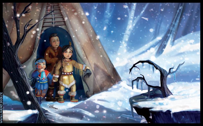 Sad children - snow by laura-csajagi