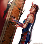 Blue-Beard Ravenn is going to open the door