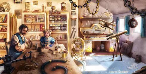 Little Cinderella in workshop