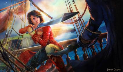 Pirate lady attacks