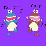 Globox and Uglette dancing