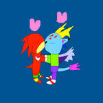 Knuckles and Crystal making out by SuperSmashCynderLum