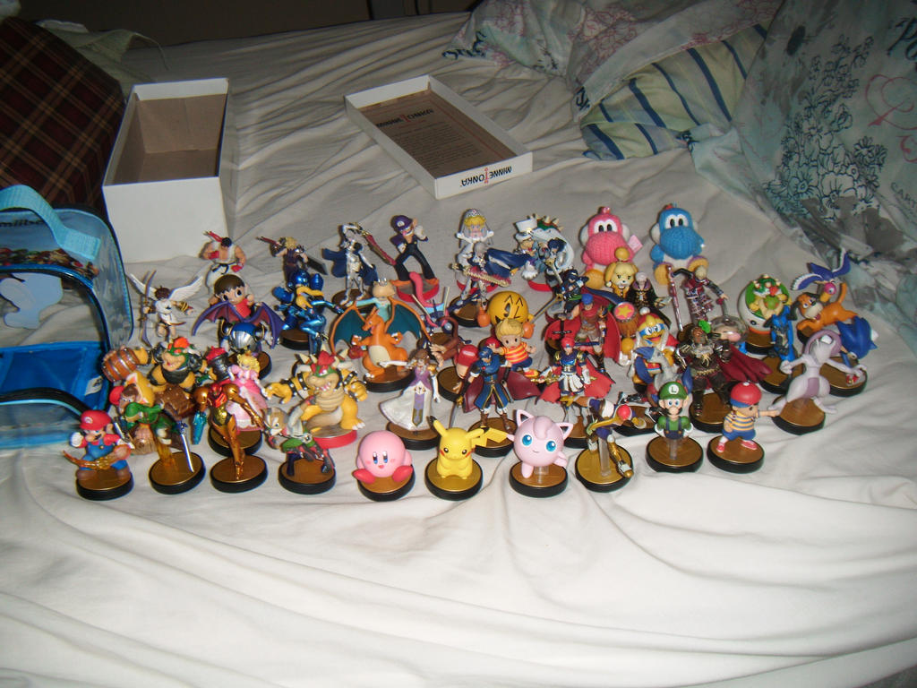 My Amiibos so far by SuperSmashCynderLum