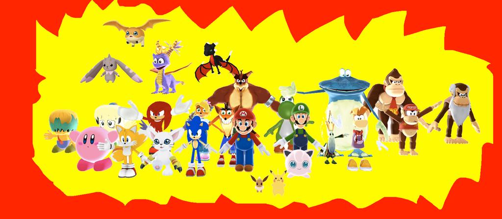 My favorite heroes by SuperSmashCynderLum
