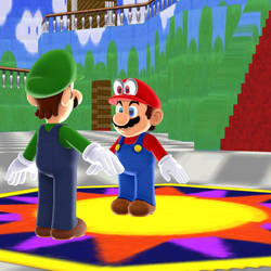 Uh, Mario? Why does your hat have eyes?