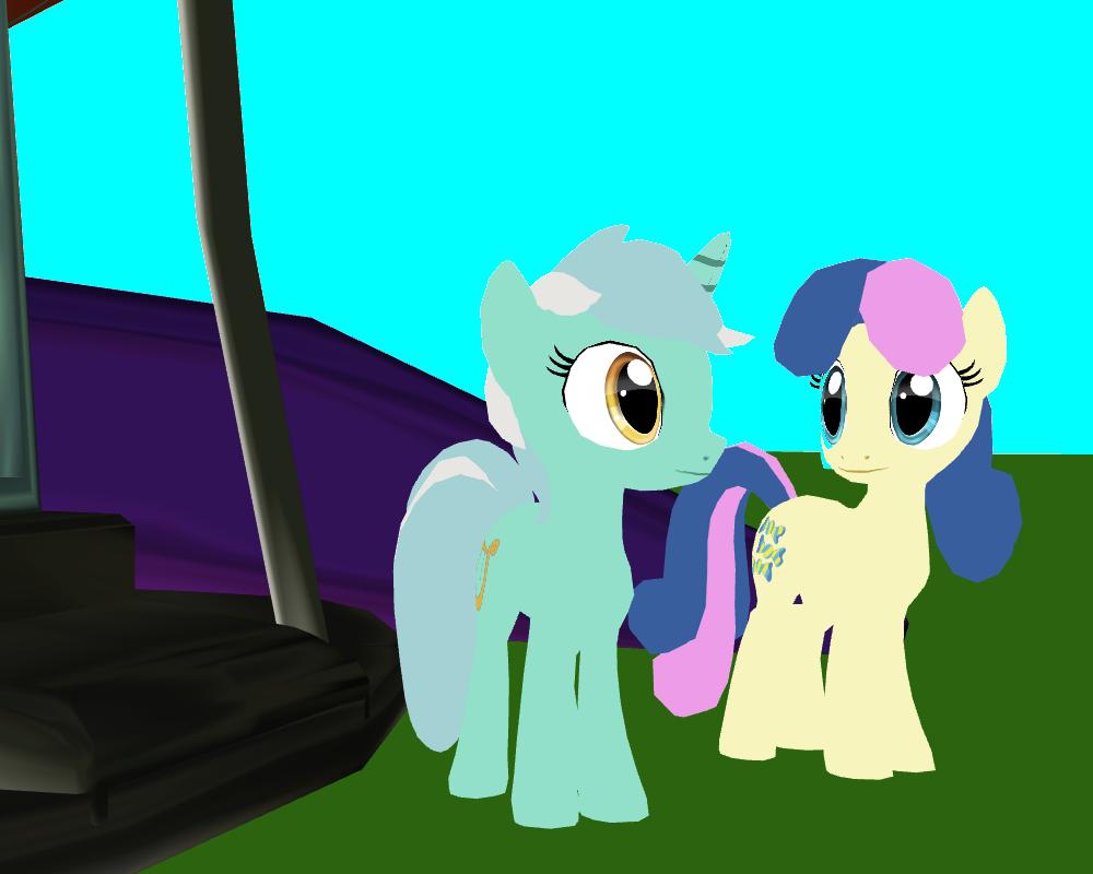 Lyra with BonBon by SuperSmashCynderLum