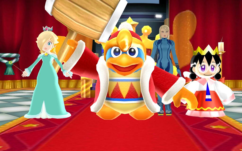 King Dedede with his Ladies by SuperSmashCynderLum