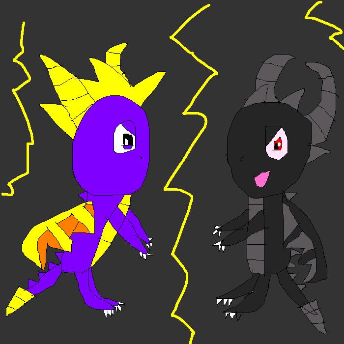 Reignited Spyro vs Academy Dark Spyro by SuperSmashCynderLum