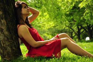 Lady in red II by angel-maritza