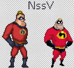 Mr Incredible sprite SSF2