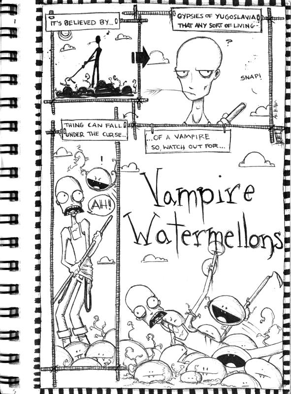 Vampire Watermellons by pyroness
