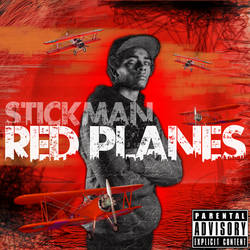 STICKMAN RED PLANES CD ART by fornoraisin