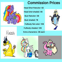 Commission price page!