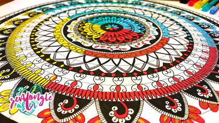 4 Color mandala by AsterBarnes