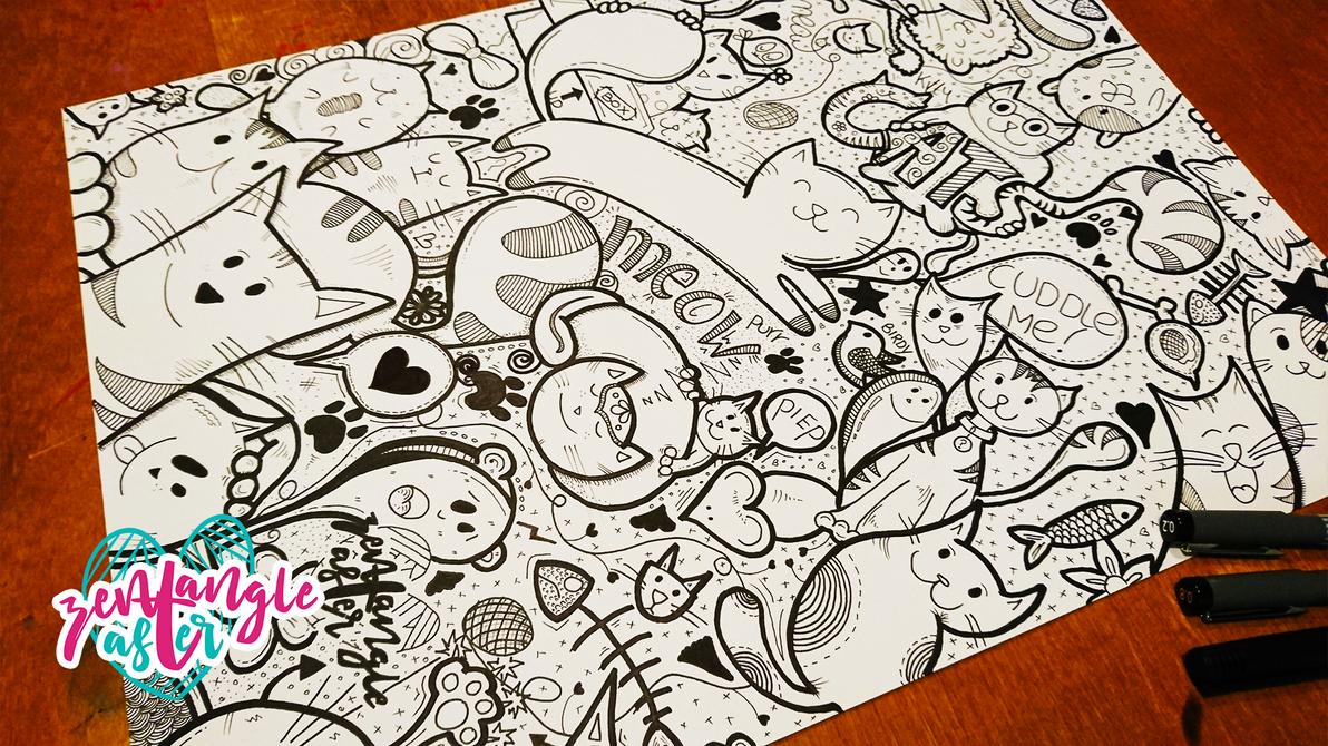Big Cat Doodle by AsterBarnes