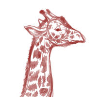 Giraffe sketch by ochiba1110