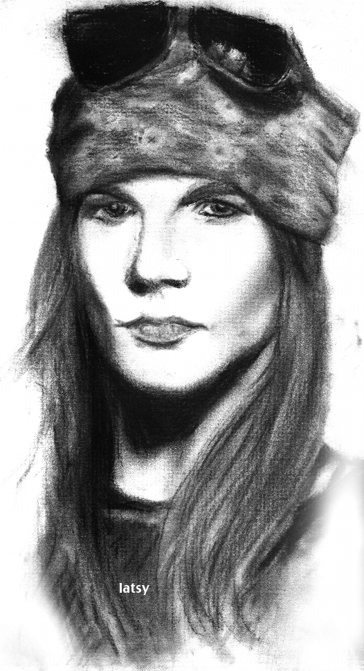 axl rose charcoal by latsy