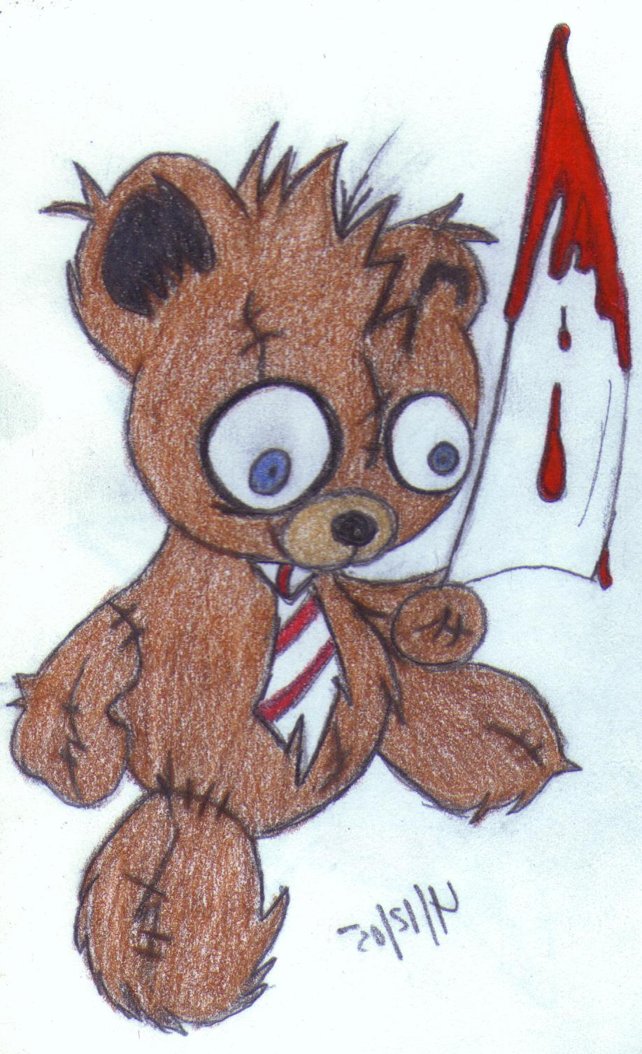 killer teddy bear by djdaztec on DeviantArt