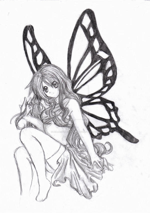 Anime Fairies Easy Drawings