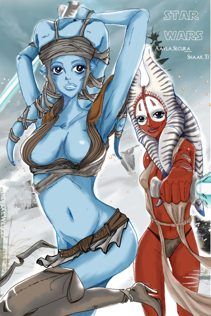 Aayla Secura,Shaak Ti,Felucia by Minorou1988