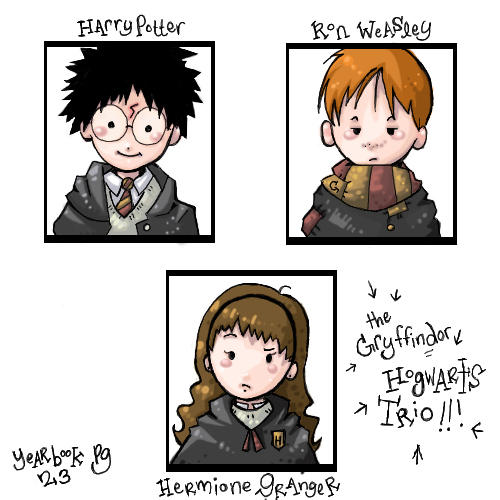 Hogwarts Trio Yearbook by mione2