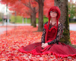 Ballgown Grell Fall Shoot 6 by TheCosplayVlogger