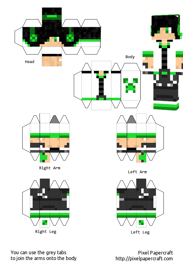 Creeper Boy White template by Saria4 on DeviantArt  Creeper Boy Whi...