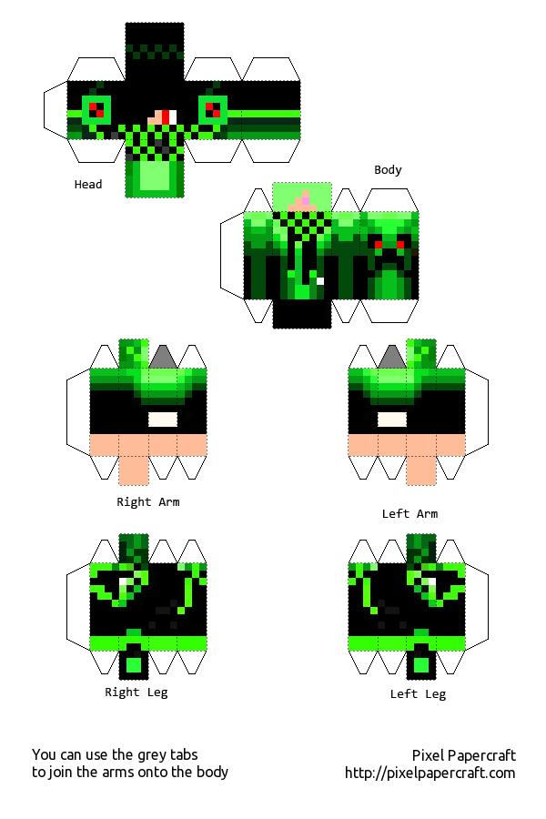 music boy green minecraft template by Saria4 on DeviantArt  music boy green...