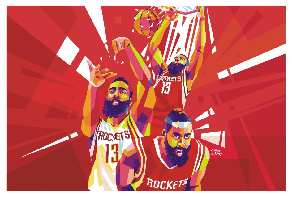 5b80c501fc2 James Harden WPAP by gilangbogy on DeviantArt
