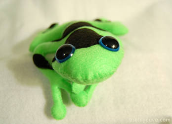 Neon Green Poison Dart Frog Plush by WeAreSevenStudios