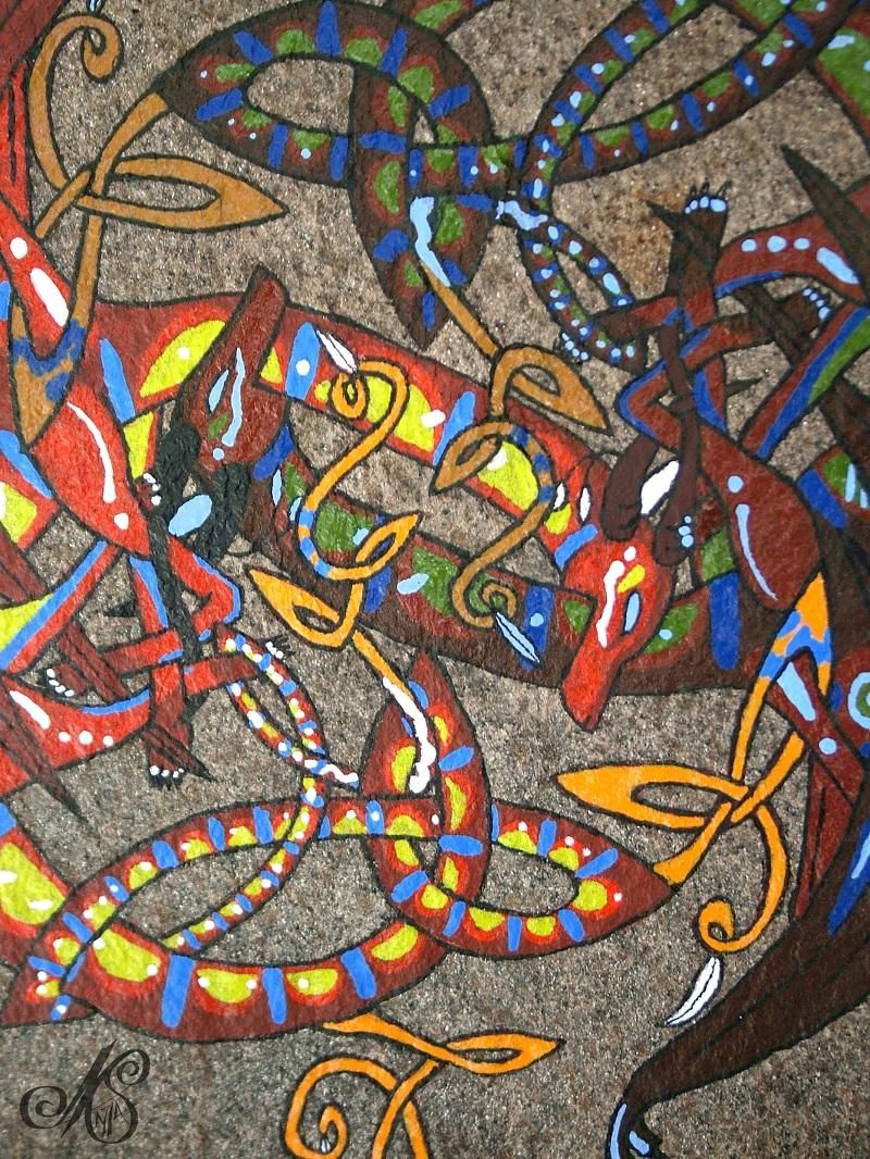 Celtic Dragon Detail by nightspirit174 on DeviantArt