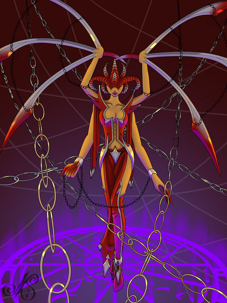 Chained Priestess by nightspirit174