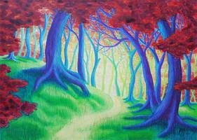 Rainbow Forest 2 by FallenFantasyArt