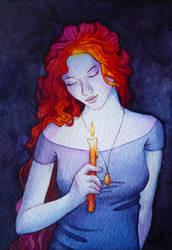 Girl with a candle by FallenFantasyArt