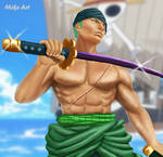 Zoro one piece by MikeArt1