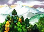 Fangorn under Misty Mountains by SarkaSkorpikova